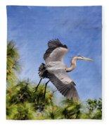 Blue Tree Hopping Fleece Blanket