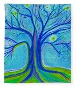 Blue Tree Sky By Jrr Fleece Blanket