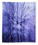 Blue Trees Fleece Blanket