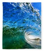 Blue Tube Fleece Blanket