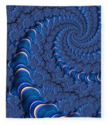 Blue Tubes Fleece Blanket