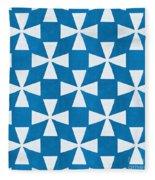 Blue Twirl Fleece Blanket