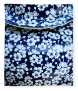 Blue Vase Fleece Blanket