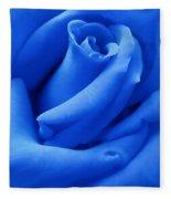 Blue Velvet Rose Flower Fleece Blanket