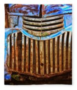 Blue Vintage Car Fleece Blanket