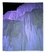 Blue Violet Ice Mountain Fleece Blanket
