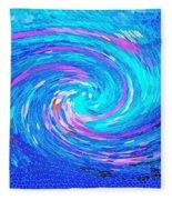 Blue Vortex Abstract 2 Intense Fleece Blanket