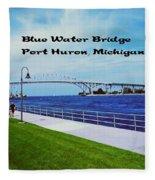 Blue Water Bridge Fleece Blanket