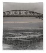 Blue Water Bridges Fleece Blanket