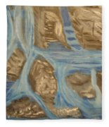 Blue Water Dancing  Fleece Blanket