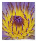 Blue Water Lily Fleece Blanket