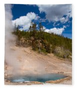 Blue Water White Steam Fleece Blanket