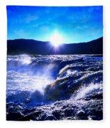 Blue Waterfall Fleece Blanket