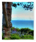Blue Waters In Palos Verdes California Fleece Blanket