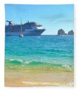 Blue Waters Of Cabo Fleece Blanket