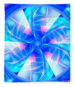 Blue Wheel Inflamed Abstract Fleece Blanket