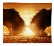 Blue Wildebeest Dual In Dust Fleece Blanket