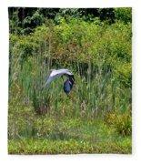 Blue Winged Heron 2013 Fleece Blanket