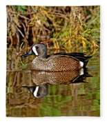 Blue-winged Teal Drake Fleece Blanket