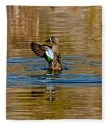 Blue-winged Teal Flapping Fleece Blanket