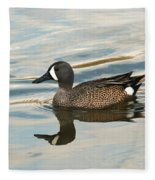 Blue Winged Teal Fleece Blanket