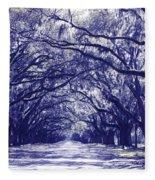 Blue World In Savannah Fleece Blanket