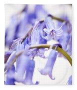 Bluebell Abstract II Fleece Blanket