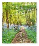 Bluebell Wood Watercolour Fleece Blanket