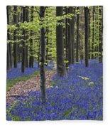 Bluebells In Beech Forest Fleece Blanket