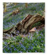 Bluebells At Bransdale Fleece Blanket