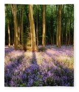 Bluebells In Shadows Fleece Blanket