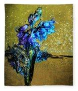 Bluebells In Water Splash Fleece Blanket