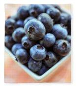 Blueberries Closeup Fleece Blanket