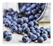 Blueberries Fleece Blanket