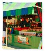 Blueberries Strawberry Jam Baskets Ferme Racine Petits Fruits Jean Talon Market Scene Carole Spandau Fleece Blanket
