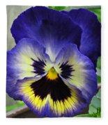 Blueberry Pansy Fleece Blanket