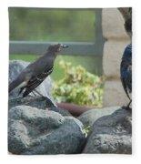 Bluejay And Mockingbird Fleece Blanket
