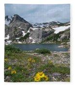 Bluebird Lake - Colorado Fleece Blanket