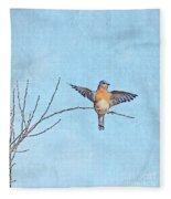 Bluebird Wings - Minimalism Fleece Blanket