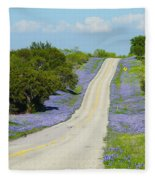 Bluebonnet Highway 2am-28667 Fleece Blanket