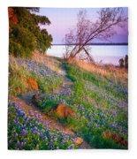 Bluebonnet Trail Fleece Blanket