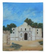 Bluebonnets At The Alamo Fleece Blanket