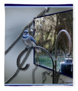 Bluejay Oob - Featured In 'out Of Frame' And Comfortable Art Groups Fleece Blanket