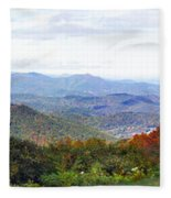 Blueridge Parkway View 2 At Mm 404  Fleece Blanket