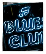 Blues Club On Bourbon Street Nola  Fleece Blanket