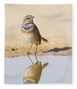 Bluethroat Luscinia Svecica Fleece Blanket