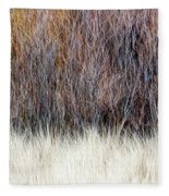 Blurred Brown Winter Woodland Background Fleece Blanket