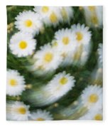 Blurred Daisies Fleece Blanket