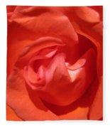 Blushing Orange Rose 5 Fleece Blanket