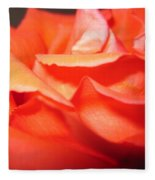 Blushing Orange Rose 6 Fleece Blanket